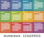 simple colorful calendar for... | Shutterstock .eps vector #1216254523