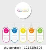timeline infographics design | Shutterstock .eps vector #1216256506