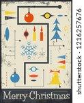 mid century abstract merry... | Shutterstock .eps vector #1216257676