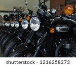 motorbike showroom in...   Shutterstock . vector #1216258273