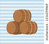 Wooden Barrels With Beer Raster ...