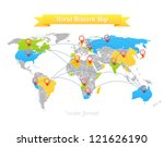 network map. | Shutterstock .eps vector #121626190