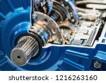 gears of the gearbox in the... | Shutterstock . vector #1216263160