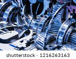 gearboxes and bearings in the... | Shutterstock . vector #1216263163