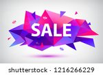 vector faceted geometric sale... | Shutterstock .eps vector #1216266229