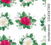 seamless floral pattern with... | Shutterstock .eps vector #1216267303