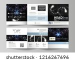 set of business templates for... | Shutterstock .eps vector #1216267696