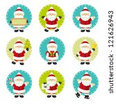 set of santa claus | Shutterstock .eps vector #121626943