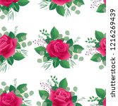 seamless spring floral pattern... | Shutterstock .eps vector #1216269439