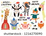 big set with cute animals doing ... | Shutterstock .eps vector #1216270090
