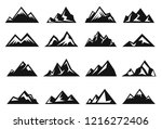 mountain large natural rock... | Shutterstock .eps vector #1216272406