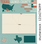 detailed map of gaines county... | Shutterstock .eps vector #1216276099