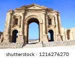 triumphal arch of hadrian in... | Shutterstock . vector #1216276270