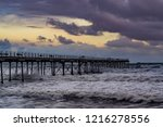saltburn pier on 30th october... | Shutterstock . vector #1216278556