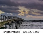 saltburn pier on 30th october... | Shutterstock . vector #1216278559