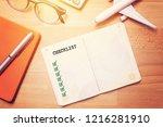 travel checklist concept.... | Shutterstock . vector #1216281910