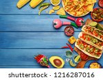 set of various traditional... | Shutterstock . vector #1216287016