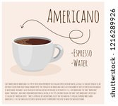americano coffee. cup of fresh... | Shutterstock .eps vector #1216289926