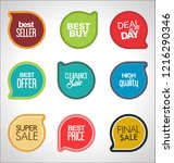 modern sale banners and labels... | Shutterstock .eps vector #1216290346