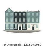 london street landscape vector... | Shutterstock .eps vector #1216291960