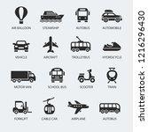 transportation icons set | Shutterstock .eps vector #1216296430