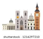 london street skyline vector... | Shutterstock .eps vector #1216297210