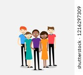group of international people... | Shutterstock .eps vector #1216297309