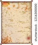 grunge rusty blank metal sign... | Shutterstock .eps vector #1216300000