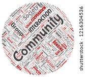 vector conceptual community ... | Shutterstock .eps vector #1216304536