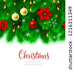 vintage abstract christmas... | Shutterstock . vector #1216311349