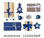 christmas gift boxes and... | Shutterstock . vector #1216315609