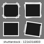 pack of square frame template... | Shutterstock .eps vector #1216316803