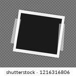 polaroid frame template on... | Shutterstock .eps vector #1216316806