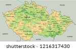 high detailed czech republic... | Shutterstock .eps vector #1216317430