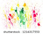 stain watercolor.colorful... | Shutterstock . vector #1216317553