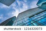 office building in hong kong on ... | Shutterstock . vector #1216320073