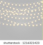 christmas lights isolated... | Shutterstock .eps vector #1216321423