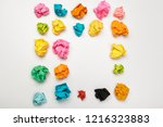 colorful crumpled paper balls   Shutterstock . vector #1216323883
