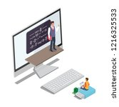 online learning concept ... | Shutterstock . vector #1216325533