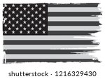 old black and white american... | Shutterstock .eps vector #1216329430
