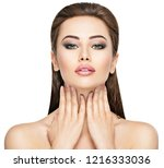 beauty face of the young... | Shutterstock . vector #1216333036