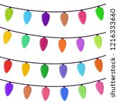 vector cartoon bright garland... | Shutterstock .eps vector #1216333660