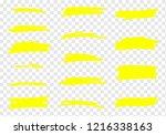 vector highlighter brush set.... | Shutterstock .eps vector #1216338163