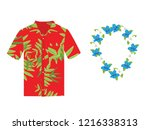 vector illustration hawaiian...   Shutterstock .eps vector #1216338313