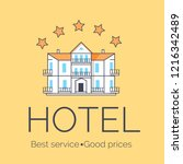 hotel with best service and... | Shutterstock . vector #1216342489
