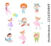 set of characters. funny...   Shutterstock .eps vector #1216354849