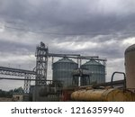 abandoned equipment  industrial ... | Shutterstock . vector #1216359940