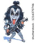 gene simmons is the kiss band... | Shutterstock . vector #1216370746