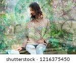 magic world of numerology | Shutterstock . vector #1216375450