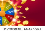 wheel of luck or fortune with... | Shutterstock .eps vector #1216377316